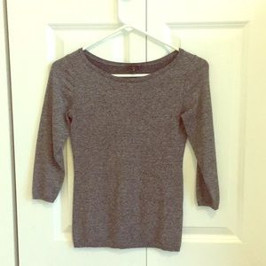 Charcoal gray 3/4 length sweater